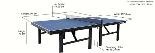 Ping Pong Table Height John Sport Map